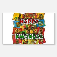 Happy Kwanzaa Collage.png Decal
