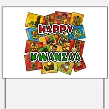 Happy Kwanzaa Collage.png Yard Sign