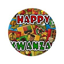 "Happy Kwanzaa Collage.png 3.5"" Button"