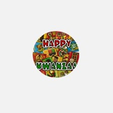 Happy Kwanzaa Collage.png Mini Button (100 pack)