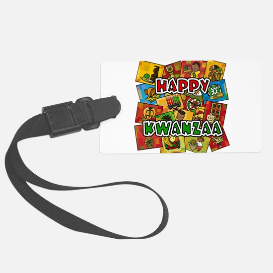 Happy Kwanzaa Collage.png Luggage Tag