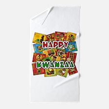 Happy Kwanzaa Collage.png Beach Towel