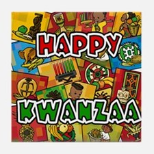 Happy Kwanzaa Collage.png Tile Coaster