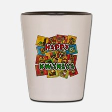 Happy Kwanzaa Collage.png Shot Glass