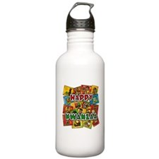 Happy Kwanzaa Collage.png Water Bottle