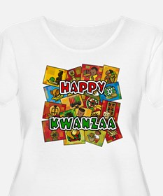 Happy Kwanzaa Collage.png Plus Size T-Shirt