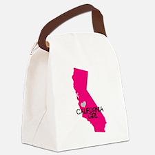 CALIFORNIA GIRL w HEART [4] Canvas Lunch Bag