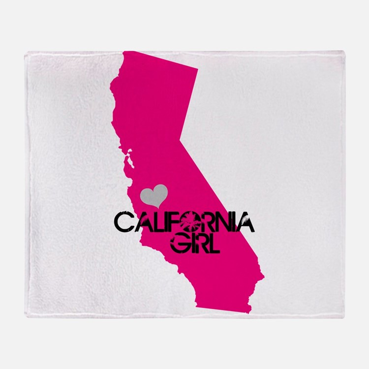 CALIFORNIA GIRL w HEART [4] Throw Blanket