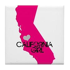 CALIFORNIA GIRL w HEART [4] Tile Coaster