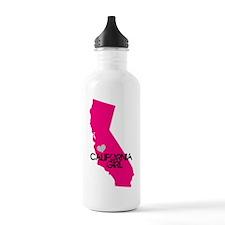 CALIFORNIA GIRL w HEART [4] Water Bottle