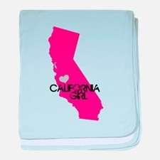 CALIFORNIA GIRL w HEART [4] baby blanket