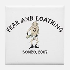 Fear and Loathing Tile Coaster