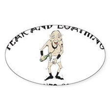Fear and Loathing Oval Decal