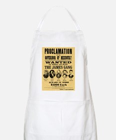 Wanted The James Gang BBQ Apron