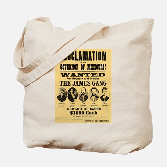 Wanted The James Gang Tote Bag