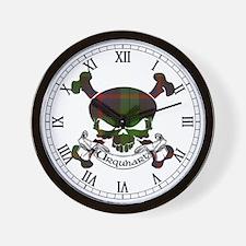 Urquhart Tartan Skull Wall Clock