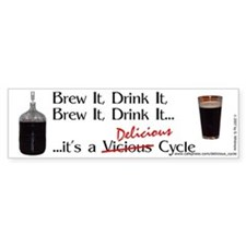 Delicious Cycle Bumper Bumper Sticker