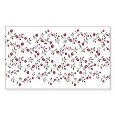 Roses & Ribbons Rectangle Decal