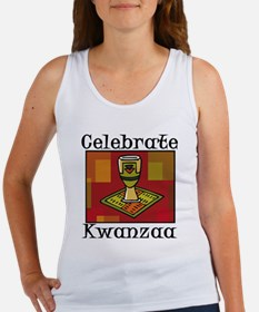 Celebrate Kwanzaa with chalice and blanket.png Tan
