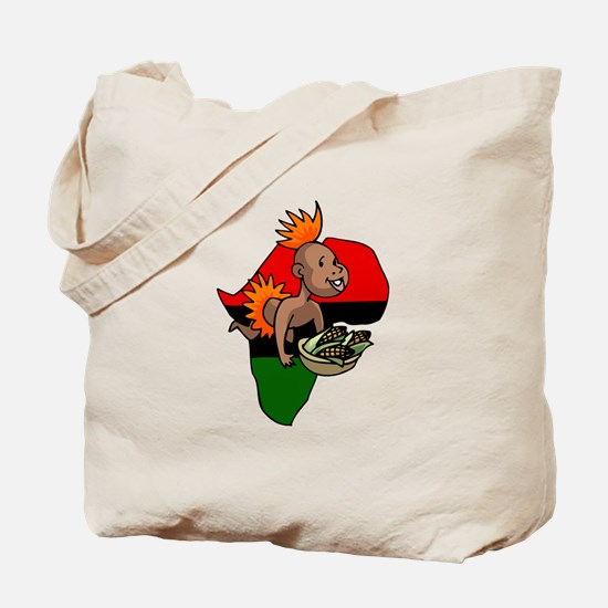 Kwanzaa Baby with Africa and corn.png Tote Bag