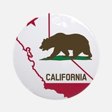 CALI STATE w BEAR Ornament (Round)