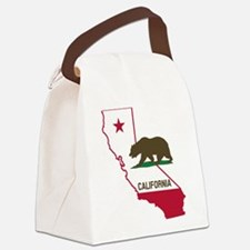 CALI STATE w BEAR Canvas Lunch Bag