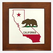 CALI STATE w BEAR Framed Tile