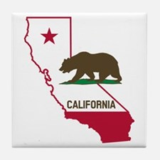 CALI STATE w BEAR Tile Coaster
