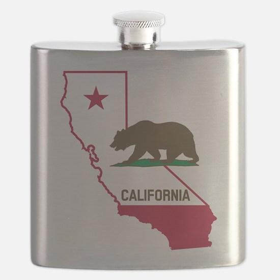 CALI STATE w BEAR Flask