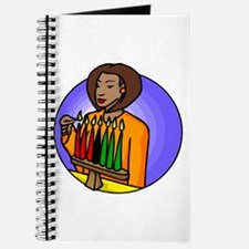 Lady Lighting Kwanzaa Candles.png Journal