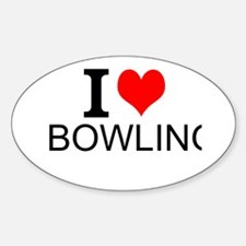 I Love Bowling Decal