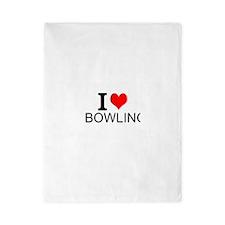 I Love Bowling Twin Duvet