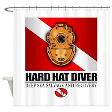 Hard Hat Diver Shower Curtain