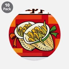 """Corn Baskets for Happy Kwanzaa.png 3.5"""" Button (10"""