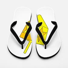 Golden Dreidel Flip Flops