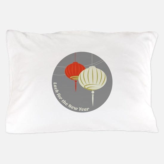 Luck For The New Year Pillow Case