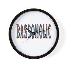 Bassoholic bass fishing gifts Wall Clock