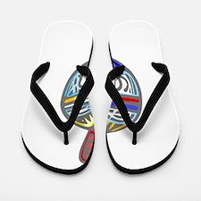 Dreidel colorful Flip Flops