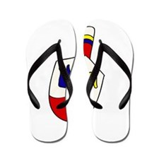 cute cartoon dreidel Flip Flops
