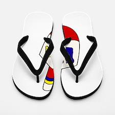 cute cartoon dreidel Flip Flops