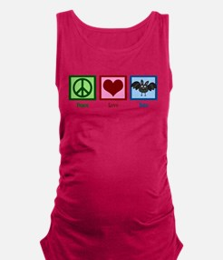 Peace Love Bats Maternity Tank Top