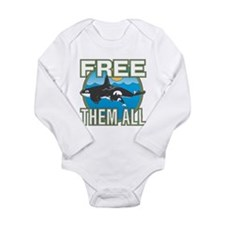 Free Them All(Whales) Long Sleeve Infant Bodysuit