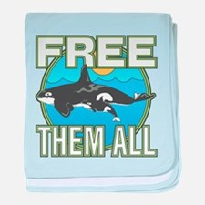 Free Them All(Whales) baby blanket