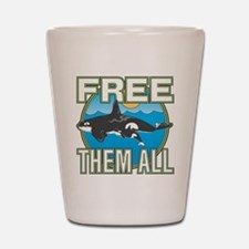 Free Them All(Whales) Shot Glass