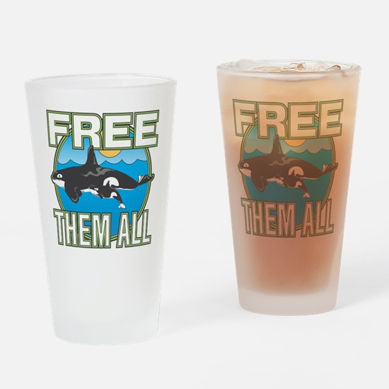 Free Them All(Whales) Drinking Glass