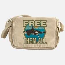 Free Them All(Whales) Messenger Bag