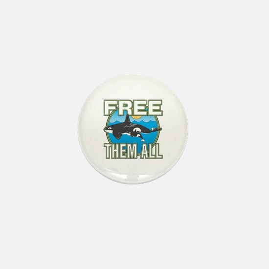 Free Them All(Whales) Mini Button (10 pack)