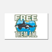 Free Them All(Whales) Car Magnet 20 x 12