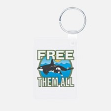 Free Them All(whales) Aluminum Photo Keychains
