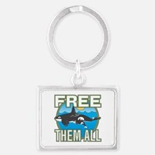 Free Them All(Whales) Landscape Keychain